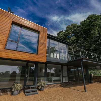 Composite windows for Norfolk Broads holiday home