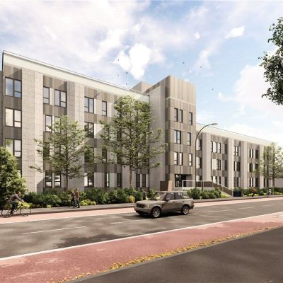 Westcoast Windows supplies Swedish timber aluminium composite windows for exclusive development of contemporary apartments on Kings Road, Reading