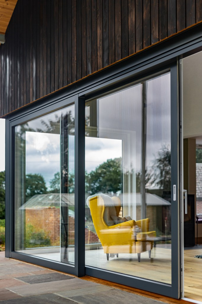 Self-build family home in Norfolk uses Westcoast Windows' largest sliding door to enjoy expansive countryside views