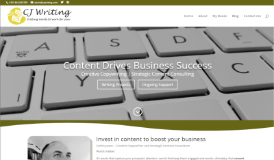 Writer Website Design and Content Marketing