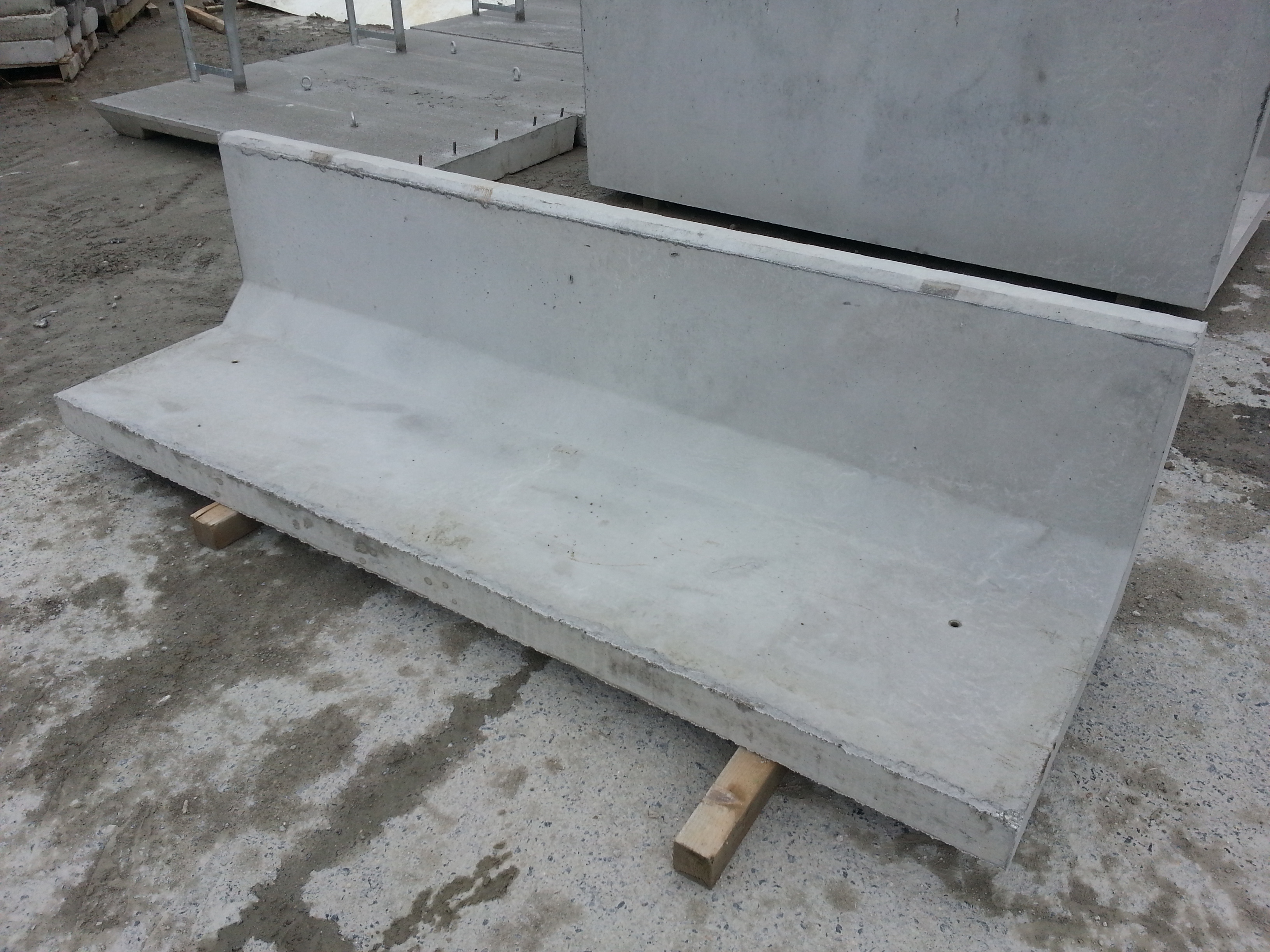 Agricultural Precast Concrete Products : Precast concrete feed troughs for cattle and young stock