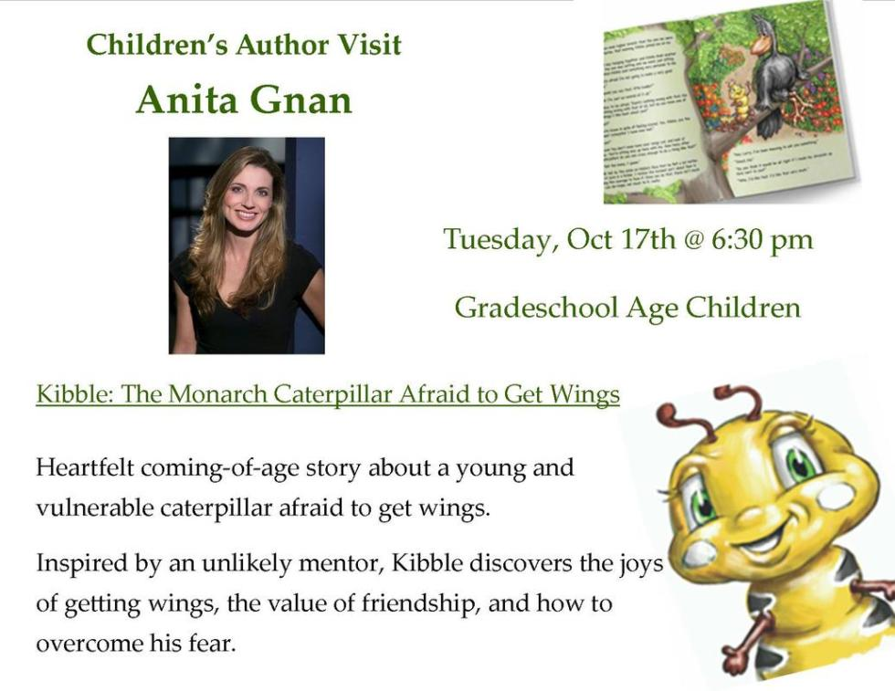 anita gnan visits johnsonburg public library