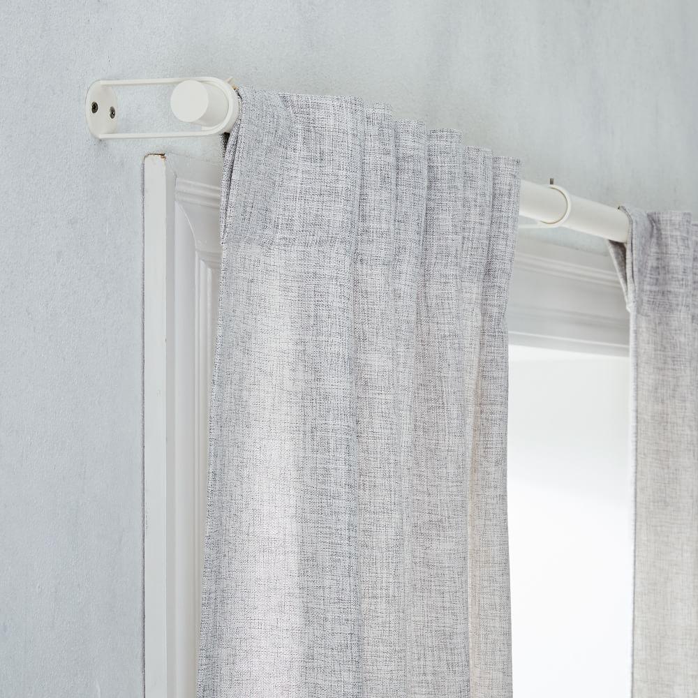 crossweave blackout curtain stone white