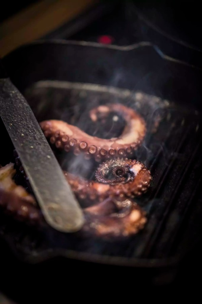 Fried octopus arms