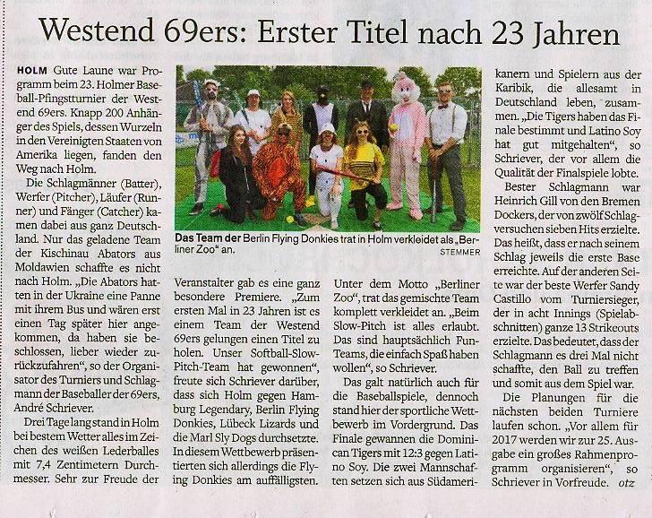 23.Pfingstturnier Westend 69'ers