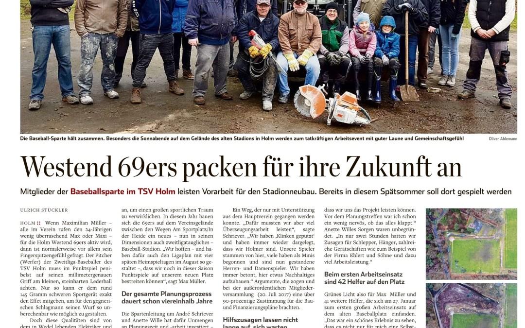Das Hamburger Abendblatt berichtet über unsere Baustelle
