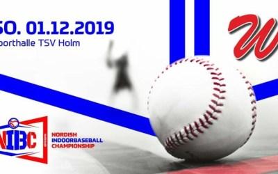 Nordish Indoorbaseball Championship erstmals in Holm [Spielbericht des NIBC-Turniers vom 01.12.2019]