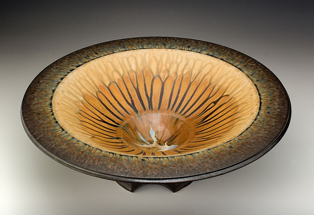 "Richard Aerni ""Brown Pedestal Bowl"" Inquire"