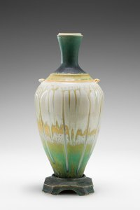 "Richard Aerni ""Green Pedestal Vase"" Inquire"