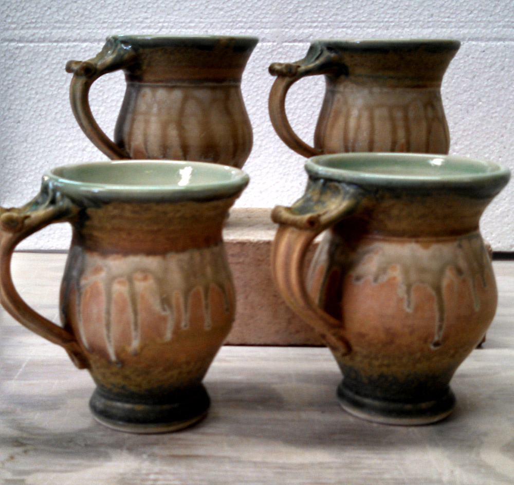 "Richard Aerni ""Round Mugs"" ceramic $38. each"