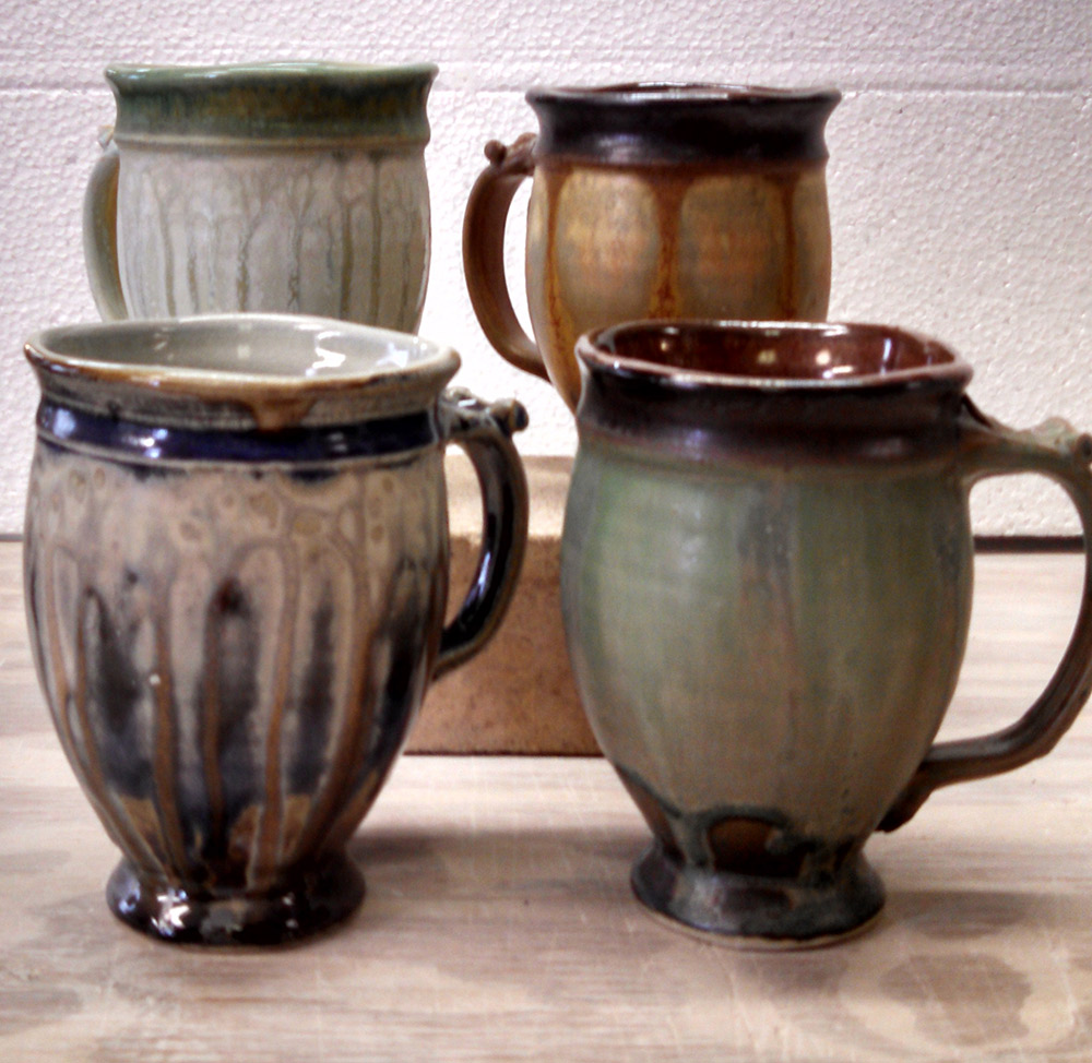 "Richard Aerni ""Square Mugs"" ceramic $42. each"