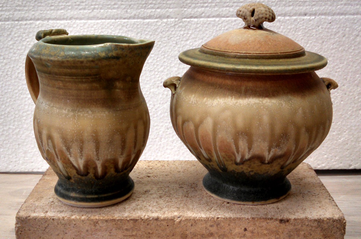 "Richard Aerni ""Sugar and Creamer"" ceramic $75./set"