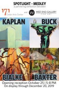171+WEG Exhibit:  Spotlight at 171's Houghton Gallery featuring: Bruce Baxter, Anne Bialke, David Buck, Ileen Kaplan @ 171 Cedar Arts Center's Houghton Gallery | Corning | New York | United States