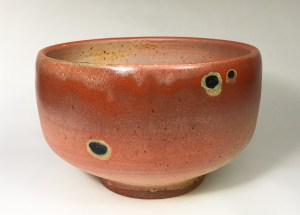 "Alan and Rosemary Bennett ""Red Drum Bowl"" 4x6.5 clay $95."