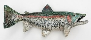 "Alan and Rosemary Bennett ""Salmon"" 9.5x22 clay $350. SOLD"