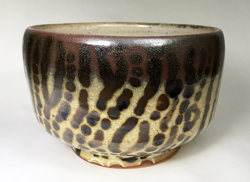 "Alan and Rosemary Bennett ""Tiger Muskie Bowl"" 4.5x7 clay $150. SOLD"