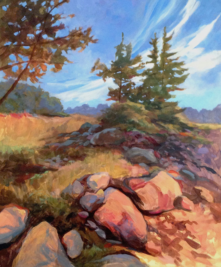 "Anne L. Bialke ""Looking North"" 20x16 oil $875."