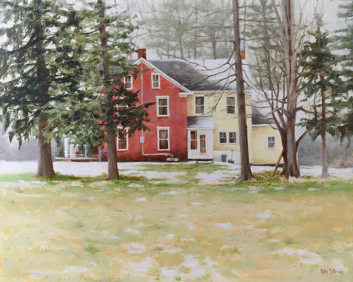 "Bibi S. Brion ""A House in the Country XII"" 16x20 oil $1,975."