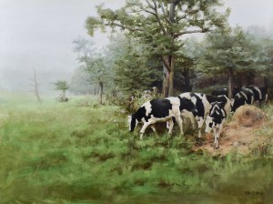 "Bibi S. Brion ""Greener Pastures"" 12x16 oil $1,200. SOLD"