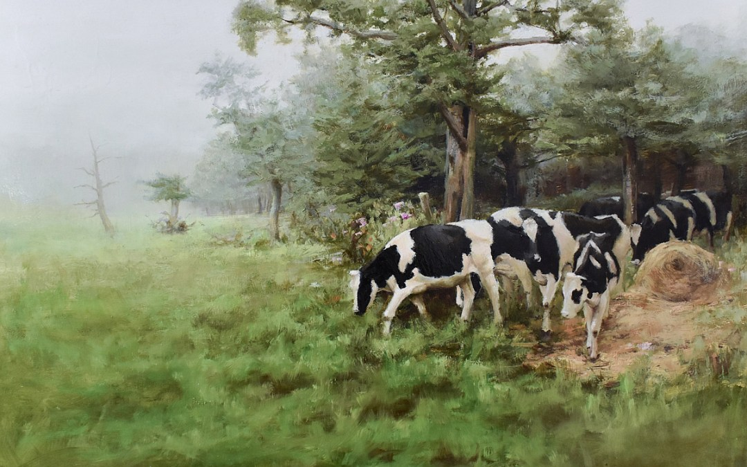 "Bibi S. Brion ""Greener Pastures"" 12x16 oil $1,200. SOLD"