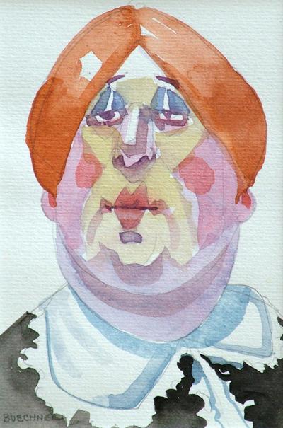 "Thomas S. Buechner ""Pride"" 6x4 watercolor $950."