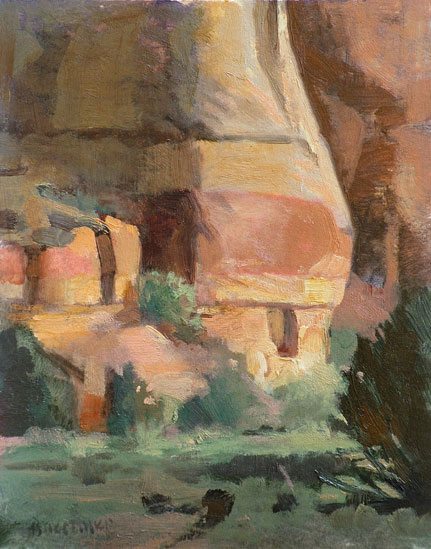 "Thomas S. Buechner ""Belly Rock I"" 10x8 oil $1,970."