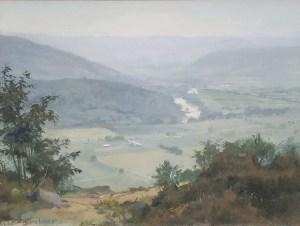 """Thomas Buechner """"Chemung Valley"""" 12x16 oil $3,000."""