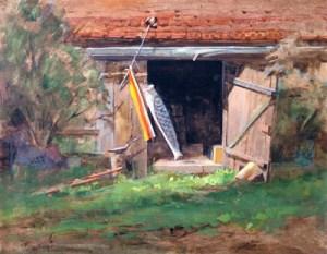 "Thomas Buechner ""Fish Kite"" 16x20 oil $3,340"