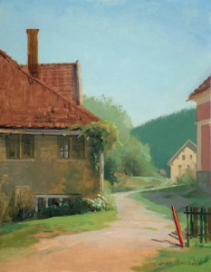 "Thomas Buechner ""From Tom's Hall (Germany)"" 14x11 oil $2,570."