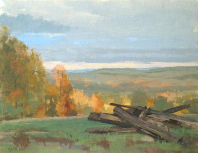 "Thomas S. Buechner ""Lapp's Farm, Caton"" 11x14 oil $2,570."