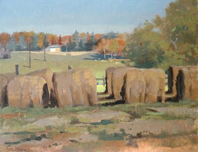 BuechnerLandscapeLapsHayBales - Thomas S. Buechner: Landscape