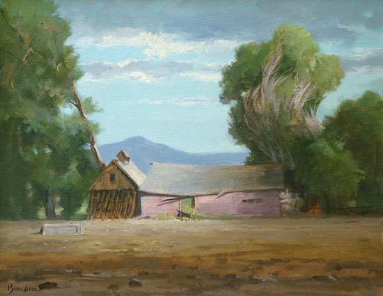 "Thomas S. Buechner ""Near Loveland, CO"" 11x14 oil $2,570."