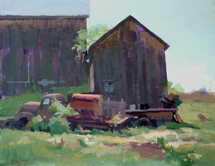 "Thomas S. Buechner ""Old Truck"" 11x14 unframed oil $2,420."