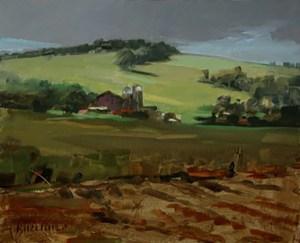 "Thomas Buechner ""Summer Farm"" 8x10 oil $1,970."