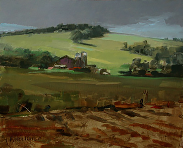 "Thomas Buechner ""Summer Farm"" 8x10 oil $1,970."