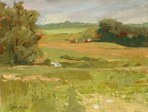 """Thomas S. Buechner """"View from Monroe's"""" 8x10 oil $1,970."""