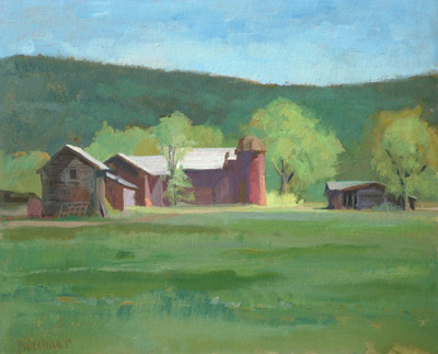 "Thomas S. Buechner ""Welles' Farm Field Study"" 11x14 oil $2,570."
