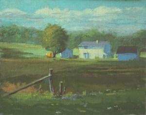 """Thomas Buechner """"White Farm"""" 8x10 oil $1,970."""