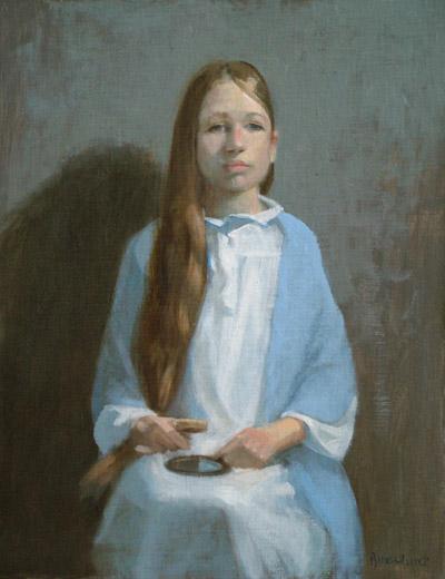 "Thomas S. Buechner ""Ada Reigle I"" 18x14 oil $3,170."