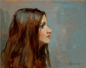 "Thomas S. Buechner ""Jody Profile"" 8x10 unframed oil $1,870."