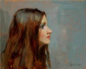 "Thomas S. Buechner ""Jody Profile"" 8x10 unframed oil $1,870."