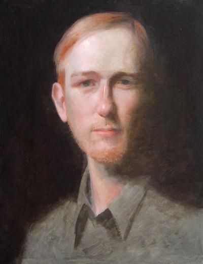 """Thomas S. Buechner """"John van Otterloo"""" 14x11 unframed oil $2,420."""