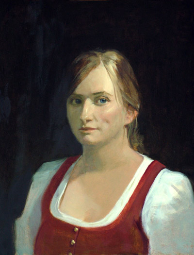 "Thomas S. Buechner ""Julie Waltz Stalker"" 20x16 oil $3,390."