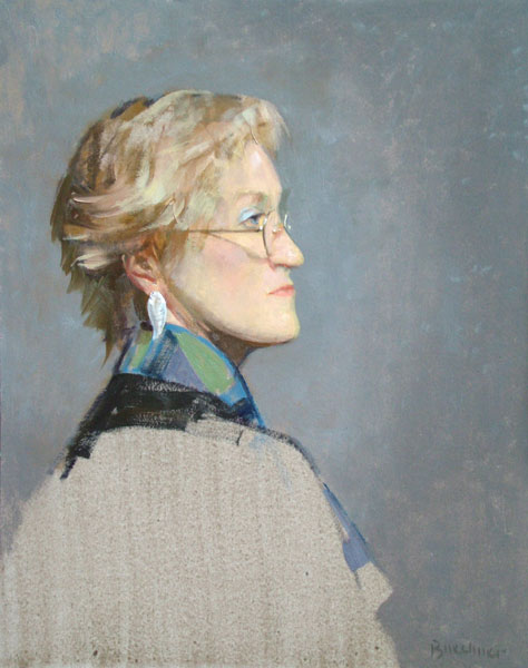 """Thomas S. Buechner """"Mary Lee Welch Profile"""" 20x16 unframed oil $3,190."""
