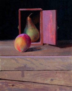 """Thomas S. Buechner """"Out of the Closet"""" 14x11 oil $2,570."""