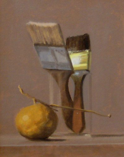 "Thomas S. Buechner ""Paint Brushes"" 10x8 unframed oil $1,870."