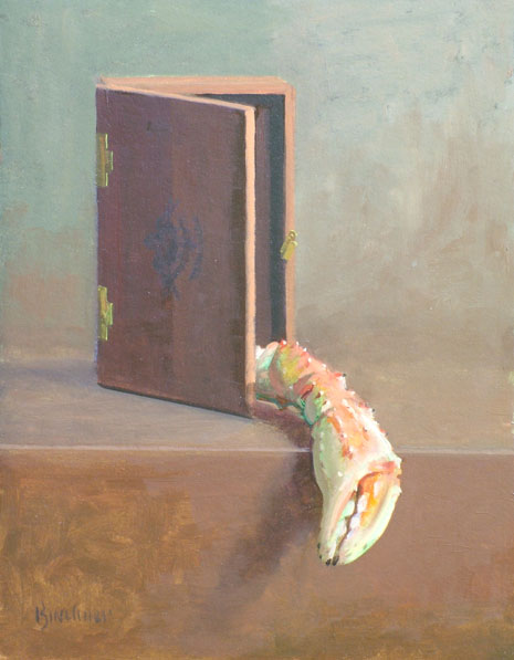 "Thomas S. Buechner ""The Surgeon General - Crab"" 14x11 oil $2,570. framed"