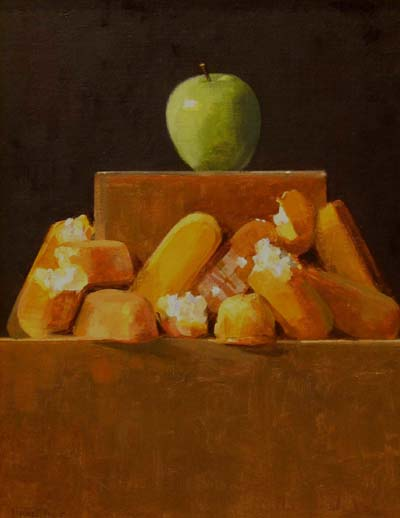 "Thomas S. Buechner ""Twilight of the Twinkies"" 18x14 oil $3,170."