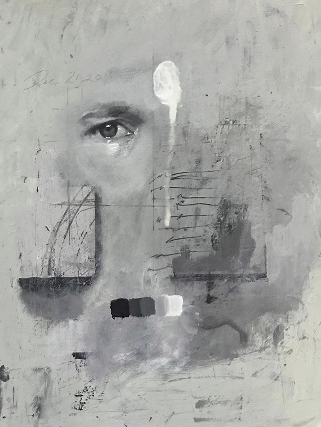 "Chad Cleveland ""Eye Study"" 12x9 acrylic/board $450. INQUIRE *"