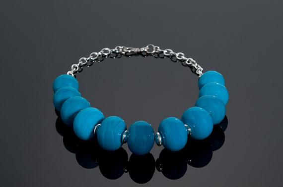 "Becky Congdon ""Atlantis"" 17.5"" necklace $220. SOLD (photo by Ann Cady)"